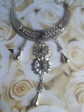 N032 Art Deco Victorian LUX Statement Necklace Gatsby Audrey Hepburn Egyptian *