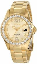 Invicta Women''s 15252 Pro Diver Gold Dial Gold-Plated Stainless Steel Watch