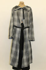 TRANSPARENTE EURO PLUS WOOL SHORT COAT LONG ZIP JACKET SILVER GRY O/S US 22 $300