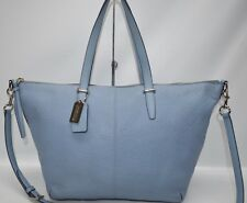Coach Bleecker Cooper Pebbled Leather Large Zip Tote Shopper Convertible 27930