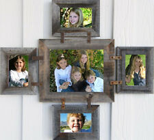 Reclaimed Barn Wood Picture Photo Collage Frame 8x10 & (4) 5x7 (Many Colors!)