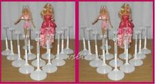 2 dozen (24) White Kaiser Doll Stands for BARBIE Monster High