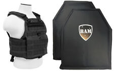 Level IIIA 3A | Body Armor Inserts | Bullet Proof Vest | Plate Carrier -BLACK