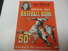 1942 OFFICIAL BASEBALL BOOK BY THE SPORTING NEWS RARE NICE CONDITION