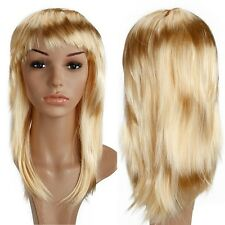 "19"" Part Costume Wig Curly Full Bang Wig Halloween Anime Cosplay Dark Blonde th"