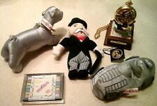 FRANKLIN MINT MONOPOLY POCKET WATCH & STAND & ASSORTED BONUS ITEMS ALL MINT COND