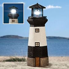 Bits and Pieces - Solar Lighthouse Outdoor Sculpture - Garden Décor and Lighting