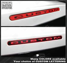 Ford Mustang Third Brake Light Overlay Stripe 2010 2011 2012 Custom Lettering