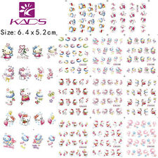 11 Sheets/Lot Ketty Cartoon Nail Art Sticker Water Transfer Decal BLE1665-1675