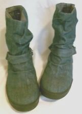 ROXY  BRAND GENUINE SURF DENIM ANKLE BOOTS WITH CHAINS SIZE 7