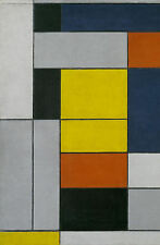 Piet Mondrian Framed Print - No. VI Composition No.II (Painting Replica Art)