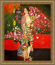 The Dancer by Gustav Klimt 85cm x 72.5cm Framed Ornate Gold