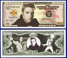 1-Elvis Presley Million Dollar Bill -Collectible - Novelty  MUSIC MONEY -D1