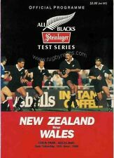 NEW ZEALAND v WALES 11 Jun 1988 2nd Test at Auckland RUGBY PROGRAMME