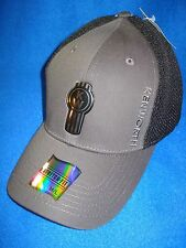 "KENWORTH HAT:  "" FITTED ""   BLACK /  GREY / LIQUID METAL CAP  *FREE SHIPPING *"