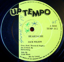 "Jack Wilson Heartache 12"" Lovers Uptempo TEMP 012 b/w No Bad Vibes+Version VINYL"