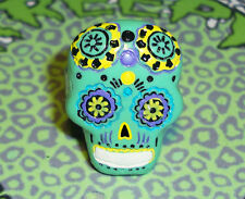 GREEN SUGAR SKULL RING ADJUSTABLE RING MEXICAN DAY OF THE DEAD