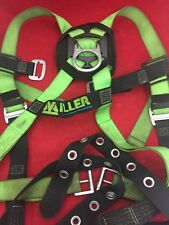 MILLER Climbing Safety Harness Fall Arrest Green/Black Good Condition