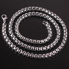 4mm New Cool Silver Tone Stainless Steel Men's Jewelry Fashion Necklace 22""