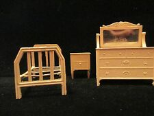 Old 1930s TootsieToy Metal DollHouse Doll House Miniature Pink Furniture