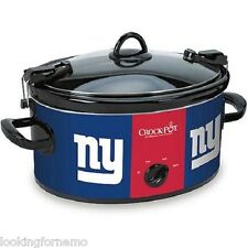 NY GIANTS Crock-Pot NFL 6-Quart Slow Cooker Cook and Carry New in Damaged box