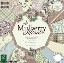 DOVECRAFT MULBERRY KISSES 8 X 8 SAMPLE PACK - NEW 1 OF EACH DESIGN -  16 SHEETS