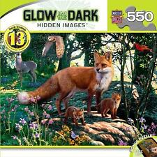 NEW GLOW IN THE DARK Hidden Images Jigsaw Puzzle 550 Piece THE WOODLANDS FOX