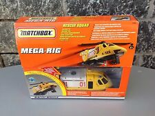 Matchbox Mega-Rig - Rescue Squad Helicopter Playset Very Rare Nib
