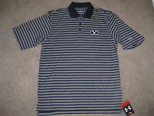 NEW UNDER ARMOUR BYU COUGARS COACHES POLO SHIRT S STRIPED GOLF HEAT GEAR UPF 30+