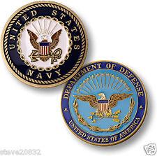 NEW U.S. Navy Department of Defense Enamel Challenge Coin. 76030.