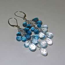 U&C Sundance London Blue, Swiss & Sky Blue Topaz .925 Sterling Silver Earrings