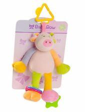 Baby-Bow  Bébé Mascotte hochets à accrocher Doudou Peluche Cochon Rose 20 cm