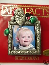 Santa Picture frame Jonette Jewelry Pin Brooch FREE SHIP signed JJ Christmas NOS