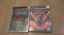 X-BOX PAL GAME: LIMITED COLLECTORS EDITION DOOM III AND EXPANSION BOXED MANUALS