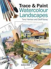 Trace & Paint Watercolour Landscapes, Kersey, Geoff, Harrison, Terry, New Books