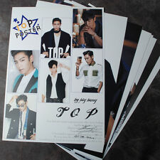 K-POP BIGBANG  TOP T.O.P 10 Posters T.O.P Collection Bromide (10PCS)  A4 SIZE