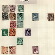 DMB - France/French Colonies Stamp Collection on Old Album Page #11 -  MH