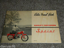 1962 62 HARLEY DAVIDSON SPRINT 250 AMF AERMACCHI OWNER OWNERS OWNER'S MANUAL