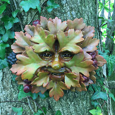 LARGE Hawthorne Greenman Garden Wall Plaque Outdoor Celtic Pagan Decor NEW 09063