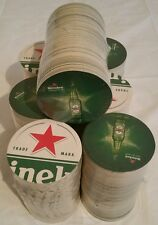 Heineken Beer Coaster Bar Mancave Lot of 100 Coasters