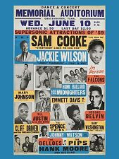 "Sam Cooke / Jackie Wilson 16"" x 12"" Photo Repro Concert Poster"