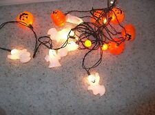 Halloween Jack O Lantern Pumpkin & Ghost w 20 String Lights  Indoor/Outdoor
