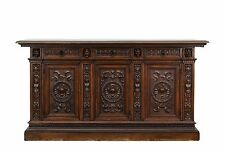 800089 : Large Antique Italian Carved Renaissance Buffet Sideboard Cabinet