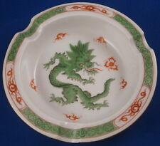 Nice Meissen Porcelain Green Ming Dragon Ashtray Ash Tray Porzellan Aschenbecher