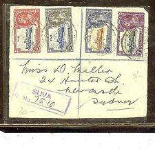 FIJI ISLANDS (P2110B)  SILVER JUBILEE SET ON COVER FRONT TO AUSTRALIA