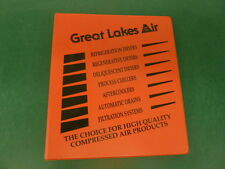 GREAT LAKES AIR. 3 RING DEALER BINDER, COMPRESSED AIR PRODUCTS, CHILLERS, DRYERS