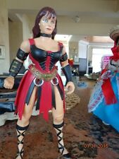 """RARE 1996 TOY BIZ 10"""" XENA ACTION FIGURE JC PENNEY EXCLUSIVE w/ 2 outfits no box"""