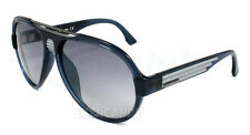 Diesel Sunglasses 0020 Transparent Blue Light Grey 90X Men's Aviator DL0020 58mm
