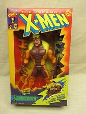 """Marvel X-Men 10"""" TALL *SABERTOOTH** DELUXE EDITION Toy Biz Factory Sealed"""