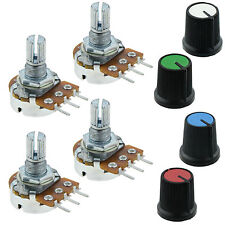 4 x 1K Log Logarithmic Potentiometer Pot with Coloured Knob